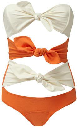 Lisa Marie Fernandez triple poppy maillot orange