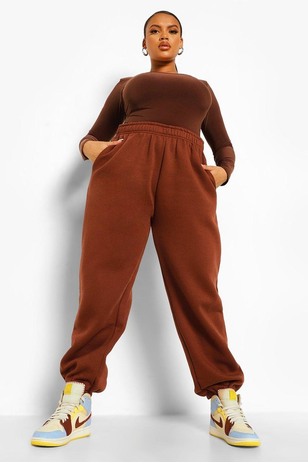 Thumbnail for your product : boohoo Plus Fleeceback Oversized Joggers