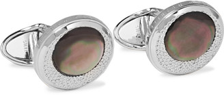 Dunhill X-Centric Rhodium-Plated Mother-Of-Pearl Cufflinks