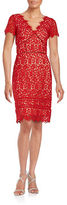 NUE by Shani Lace Cutout Sheath Dress