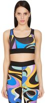 Emilio Pucci Printed Stretch Lycra Bra Top