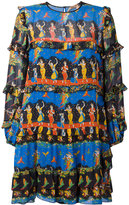 No.21 dance print shift dress