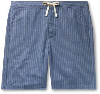 Oliver Spencer Loungewear Townsend Striped Cotton Pyjama Shorts