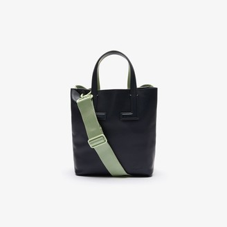 Lacoste Women's Duo Double Compartment Small Leather Tote Bag