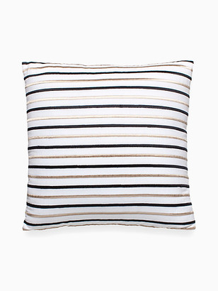 Kate Spade Embroidered Stripe Decorative Pillow