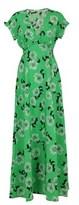 P.A.R.O.S.H. Women's Green Silk Dress.