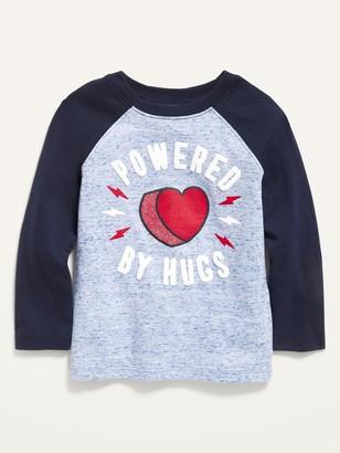 Old Navy Valentine-Graphic Slub-Knit Raglan Tee for Toddler Boys