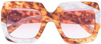 Gucci Pearl Swirl Oversize Sunglasses