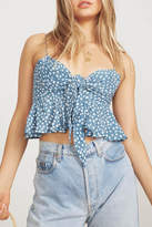 Faithfull The Brand Blue Floral Crop