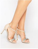 Dune Makeeta Embellished T-bar Heeled Sandals
