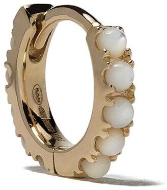 White Bird 18kt gold Ismène pearl single hoop earring