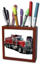 3dRose ph_526_1 Dump Truck Tile Pen Holder, 5-Inch