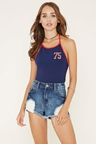 Forever 21 75 Graphic Halter Top