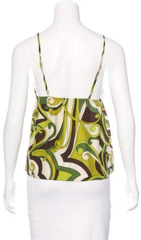 Nili Lotan Silk Printed Blouse