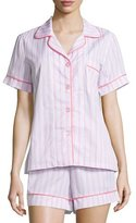 BedHead Striped Shorty Pajama Set, Pink