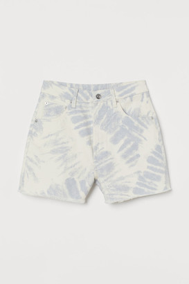 H&M Mom High Denim Shorts - Blue