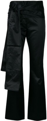 Romeo Gigli Pre-Owned Bow Detail Slim Trousers