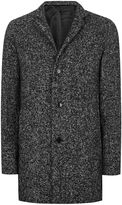 Selected Homme Tall Black Salt And Pepper Coat*