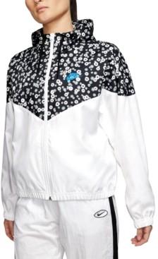 Nike Women's Sportswear Heritage Floral-Print Windbreaker