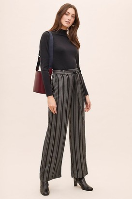 Anthropologie Lucille Striped Paperbag-Waist Trousers