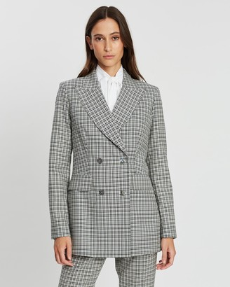 Loren Check Double-Breasted Jacket