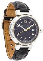 Louis Vuitton Tambour Watch w/ Alligator Strap
