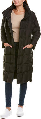 Trina Turk Trina By Carly Packable Long Puffer Down Coat