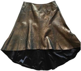 Dress the Population Metallic Leather Skirt for Women