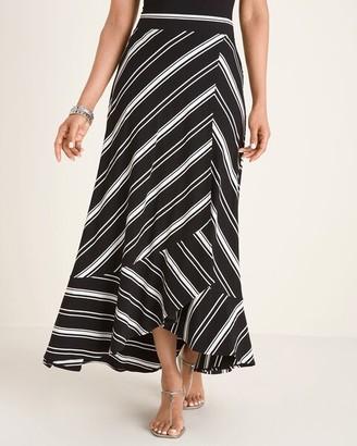 Chico's Yarn-Dye Striped Knit Maxi Skirt