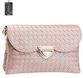 Donalworld Woen Classic Woven Wallet Clutch Shoulderessenger Bag Handbag PU Leahter