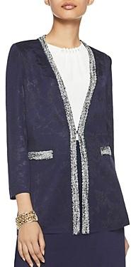 Misook Shadow Floral Knit Jacket