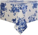 Sur La Table Blue Floral Teflon Tablecloth