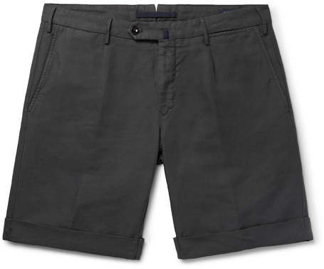 Incotex Slim-Fit Garment-Dyed Linen And Cotton-Blend Shorts