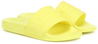 Gucci Kids Logo rubber slides