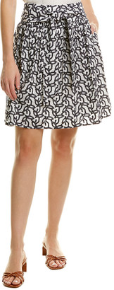 Brooks Brothers Embroidered A-Line Skirt
