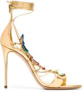 Casadei embellished lace-up evening sandals