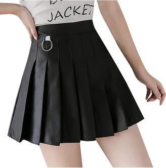 VEMOWE Black Mini Skirt Christmas Skirt for Women Pleated Mini Skirt Tartan Mini Skirt Tulle Skirt Green Sexy Mini Skirts Red Pleated Skirt