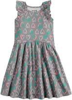 Girls 4-10 Jumping Beans Flutter Sleeve Pattern Dress