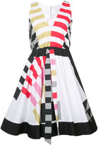 Milly elasticated waist flared dress