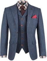 Gibson Men's Blue Herringbone Jacket