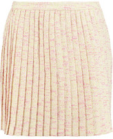 Raoul Pleated Cotton-Blend Tweed Mini Skirt