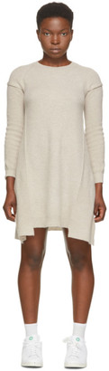 Stella McCartney Beige Wool and Alpaca Deconstructed Dress