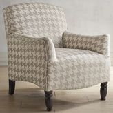 Pier 1 Imports Frankie Houndstooth Sand Tan Armchair