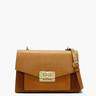 Mario Valentino Valentino By Vostok Tan Leather & Suede Satchel Bag