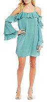 GB Cold Shoulder Satin Dress