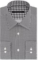 Sean John Men's Big & Tall Classic-Fit Black Houndstooth Dress Shirt