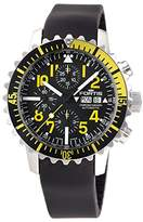 Fortis Men's 671.24.14 K B-42 Marinemaster Chronograph Yellow Analog Display Automatic Self Wind Black Watch