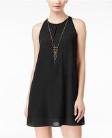 Amy Byer Juniors' Necklace Shift Dress