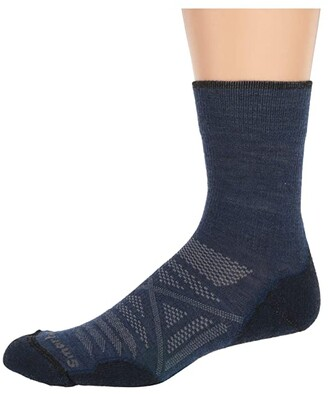 Smartwool PhD(r) Outdoor Light Mid Crew (Alpine Blue) Men's Crew Cut Socks Shoes