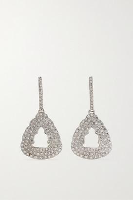 Kimberly + Net Sustain 18-karat White Gold Diamond Earrings - one size